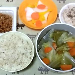 最近の夕食。