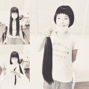 ハナメちゃんのヘアドネーション!