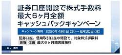 岩井コスモ証券がキャッシュバックキャンペーンを実施中!
