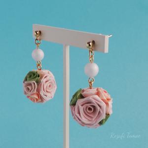 【販売中】桜色のポーシャのピアスノーマル(イヤリングに変更可)