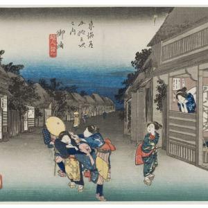 お気に入り浮世絵:東海道五十三次 御油宿