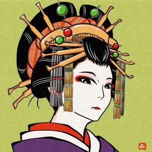 今日の一枚【花魁  島原太夫  (The No.1 geisha】