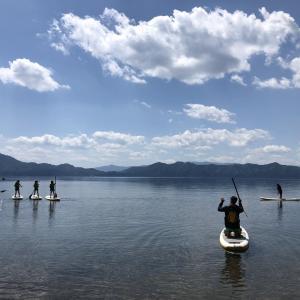 田沢湖でサップは秋田アドベンチャーガイドさんが良いです!!