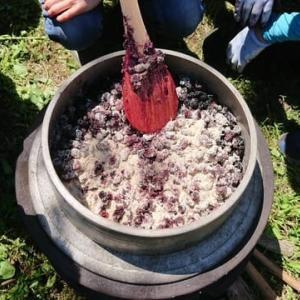 桑の実のジャム作り