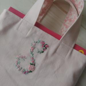 プレゼントにイニシャル刺繍入りbag