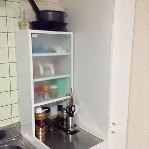 台所のスリム棚の大掃除をした。