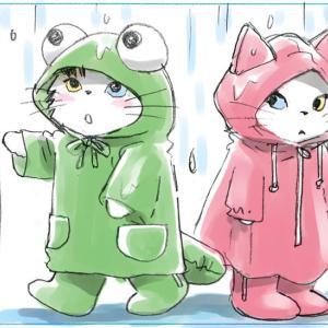 もうすぐ梅雨 (猫マンガ紹介) / 2020よいこフレークシールの紹介 / ぱいぱいはぱいんぱいんへ♡