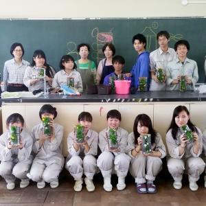 今年も「農業高校生」らと「花育」でコラボ