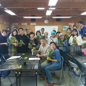 農高生とコラボした花育講習