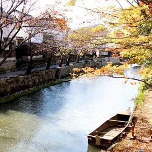 秋の八幡堀(近江八幡市)