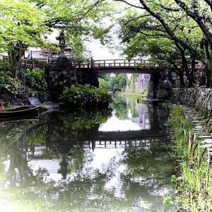 花の時期でなくても『八幡堀』(近江八幡市)