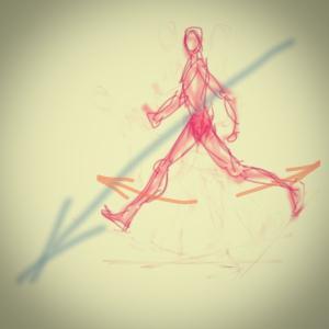 シザースを意識して歩く練習