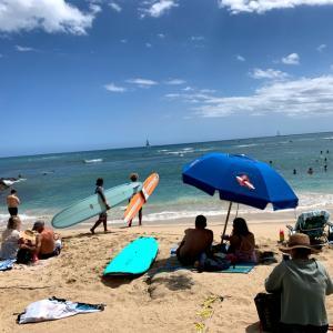 Surfing trip in Waikiki Hawaii 2019.5