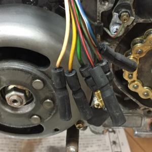 モンキー 新1号機 エンジン配線コネクター化と台風の件