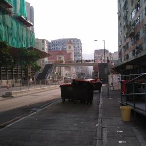 洗濯物の干し方について in香港