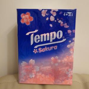 Tempoティッシュに桜の香り