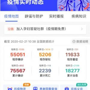新型コロナウイルス速報(2020.02.21.AM10:00)