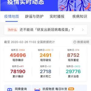 新型コロナウイルス速報(2020.02.26.AM10:12)