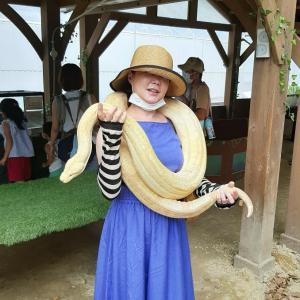 自己責任❗超!ふれあい型動物園★ノースサファリサッポロ・大蛇巻いてきました❗