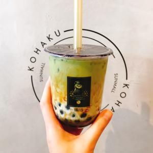 【cafe】並ばずにタピ活♪宇治抹茶ミルク@KOHAKU〜琥珀〜