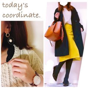 【coordinate】憂鬱な月曜日は黄色スカートで元気よく☺︎w