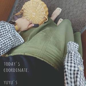 【coordinate】神戸レタスカーキスカートでお蕎麦ランチコーデ