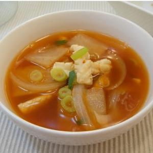 イカと大根のスープ