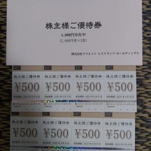 クリエイト・レストランツHD - 株主優待 (2020年11月)