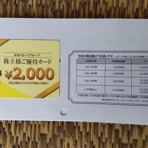 すかいらーく - 株主優待 (2021年9月)