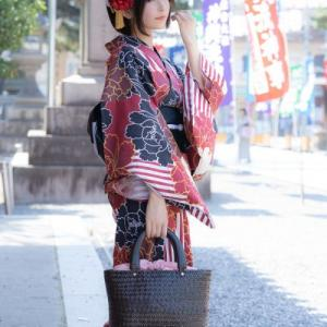 姫美那@きみなちゃんねるさんはTwitterを使っています 「※ポトレ 【YUKATA👘】 BLACK × RED...