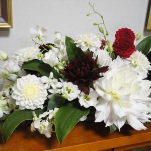 ダリアの和婚ウエディング装花です。
