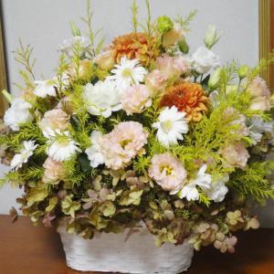 プレゼントのお花・オレンジ系