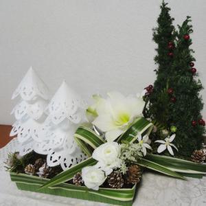 箱庭風のクリスマスアレンジメントです。