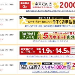【楽天銀行】バナークリックで7円稼ぐ 11月