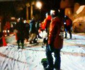 土曜日の雪、シャバシャバ、いろんなスノーボードで乗り味の違いを感じる。