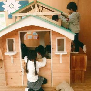 2階建て木製こどもハウス