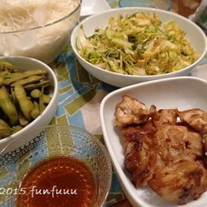 ★晩御飯献立:お素麺+お弁当☆ミ