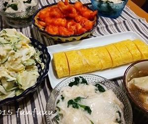 ★晩御飯献立:エビチリ+お弁当☆ミ