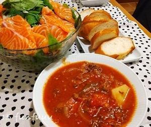 ★晩御飯献立:ビーフシチュー+お弁当☆ミ