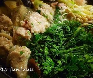 ★晩御飯献立:鶏と鶏団子の鍋☆ミ