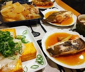★晩御飯献立:ゲタの煮つけ+お弁当☆ミ