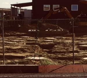 基礎工事始まりました