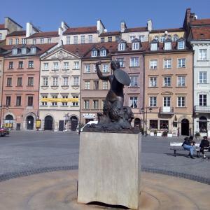 【ポーランド】首都ワルシャワ、人魚の物語