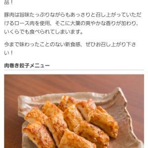仲間内からのお薦めでポチった!楽天で浜松物産30%オフで肉巻き餃子