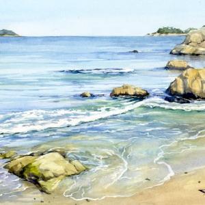 寄せ波の浜 (大槌町・浪板海岸・岩手県)