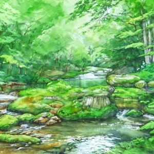 夏を流れる(岩泉町・釜津田・岩手県)