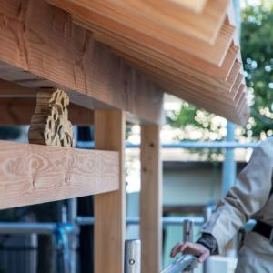 茅ヶ崎市にて「土庇」の工事