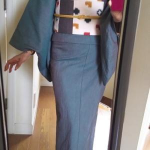 【M・K様の着姿】初の新之助上布