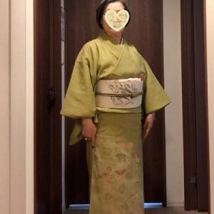 【K・K様 夏紬の訪問着】着姿です