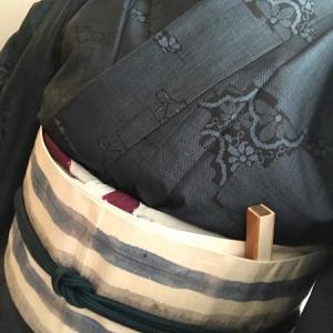 【K・K様の着姿】ご遺品の大島紬